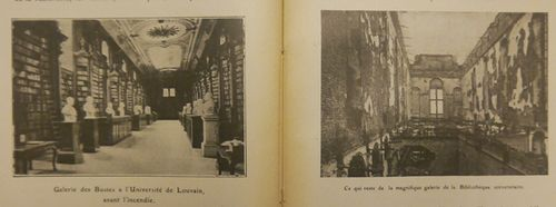 Louvain library before and after