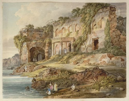 WD4404 fol 12 palace at Rajmahal by Sir C D'Oyly