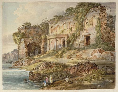 WD4404 fol 12 palace at Rajmahal by Sir C D'Oyly