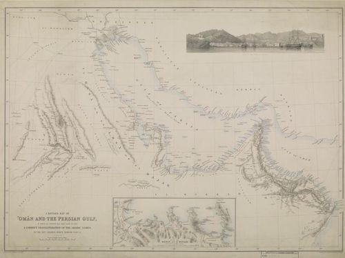 Oman and Persian Gulf map