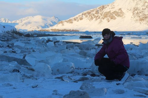 Karen in the arctic photo by Tina Kohlmann