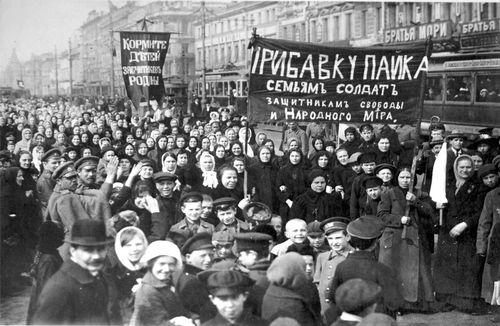 Women demonstrating Feb revolution - best picture