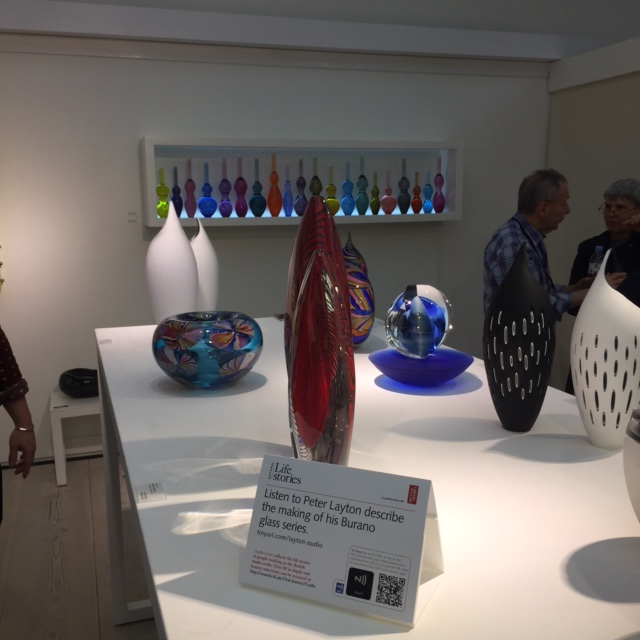 Peter Layton QR code card and Burano glass series