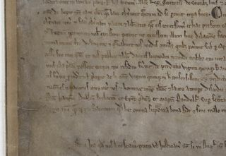 Magna Carta 1215 detail