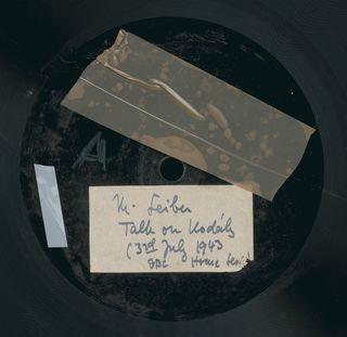 Seiber Kodaly talk disc 1943