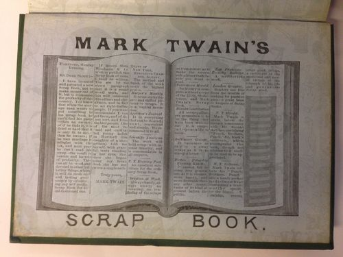 Twains patent scrap book