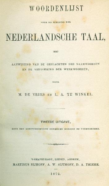 Woordenlijst 1872