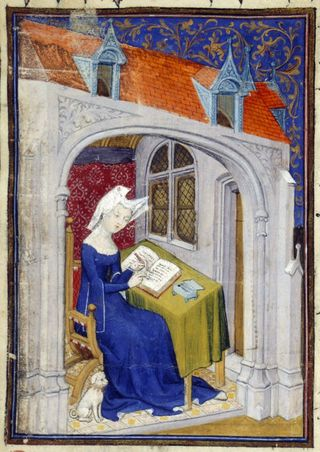 Image result for medieval women writing