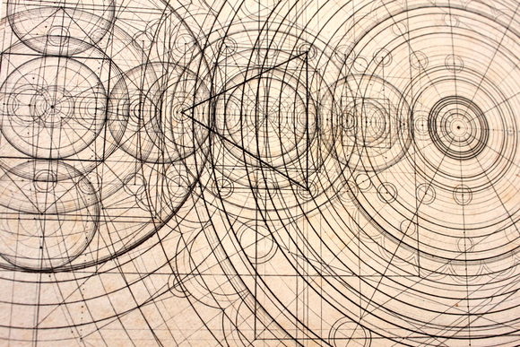 Detail of intricate drawing