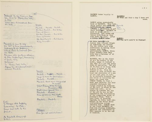 Olivier's annotated screenplay for Macbeth