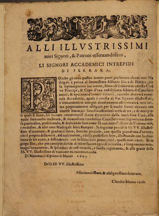 Monteverdi, Madrigals Book 4