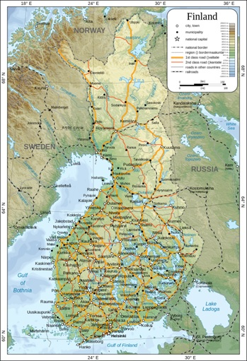 Map of Finland pic