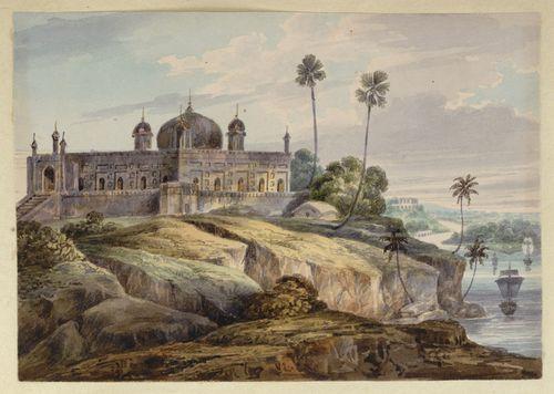 WD4404 fol 19 Mosque at Bhagalpur D'Oyly