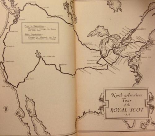 Royal scot map