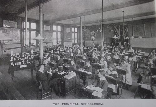 Cambrian Institution for the Deaf and Dumb schoolroom