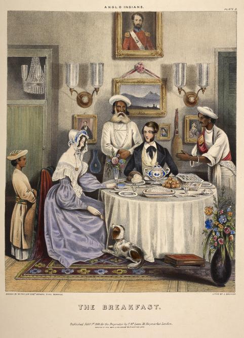 India - Europeans breakfasting D40087-35