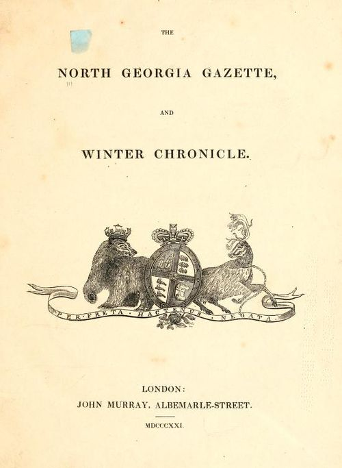 North georgia gazette (front)