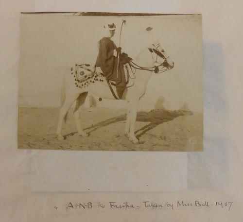 Blunt on horseback taken by Gertrude Bell Add MS 54085
