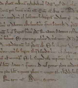 Magna Carta 1215 detail centre