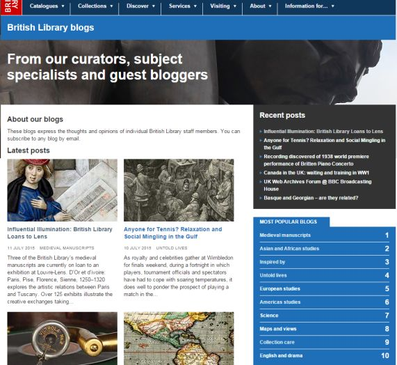 Our blogs screengrab