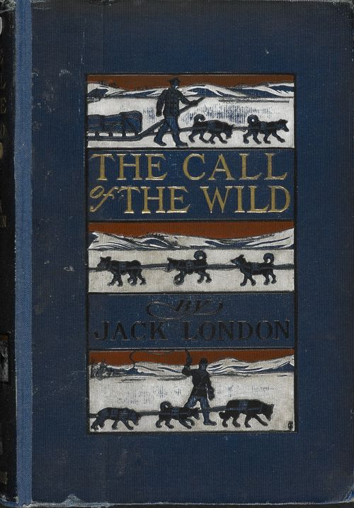 The cover of Jack London's 1903 edition of The Call of the Wild on display in Animal Tales at the British Library
