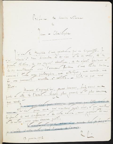 Rolland Jean Christophe preface