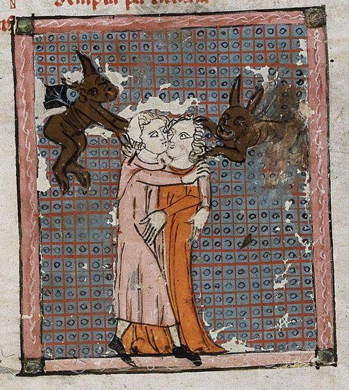 Image result for medieval manuscript  love