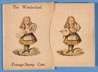 Wonderland-postage-stamp-case-designed-by-lewis-carroll