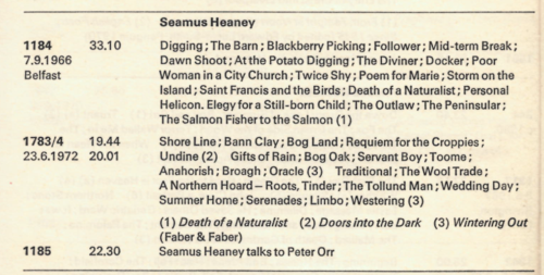 Heaney Catalogue