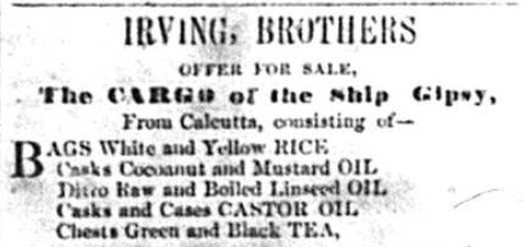 Royal Gazette 3 Jan 1856