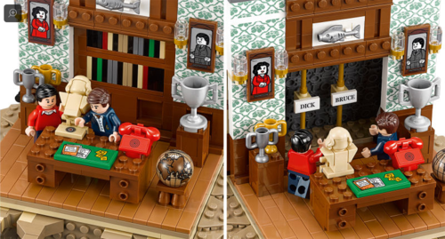 Scene from 1960's Batman Television Series reenacted with Lego