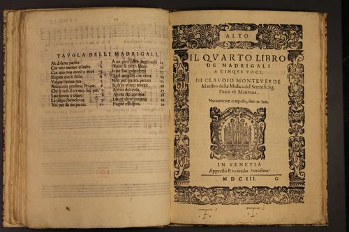 Monteverdi, Madrigals Book 4, title page