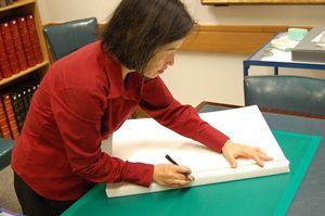 Conservator Kumiko Matsuoka