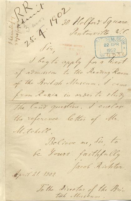 Lenin letter (Add.54579)
