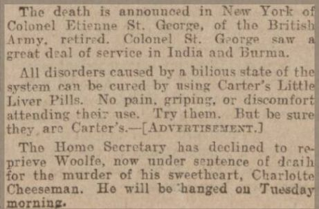 St George death notice