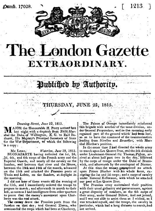 Londongazette22jun1815