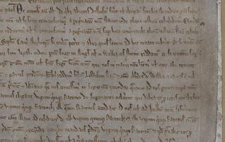 Magnca Carta 1215 detail right