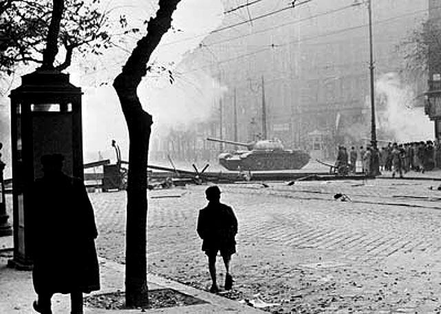 Soviet tank in Budapest 1956