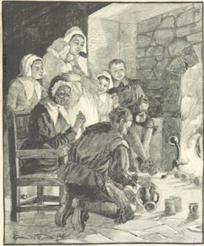 Fireside scene