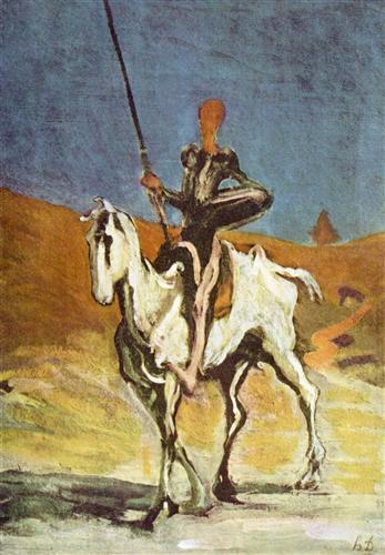 Don Quixote Daumier 2