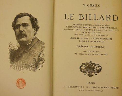 Le Billard Title Page and Portrait