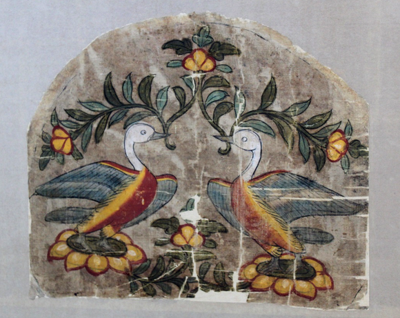 Silk cover after conservation