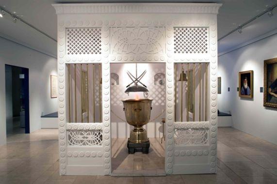 Replica of the Fire Chamber, Manekji Navroji Sett Fire Temple, Mumbai. The Everlasting Flame Exhibition