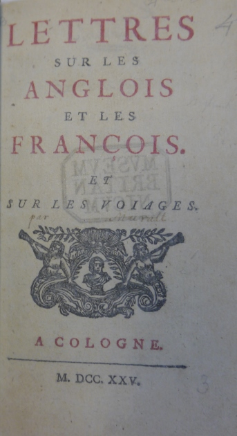 Lettres su les anglois